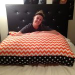 Oversized Floor Pillows Chevron