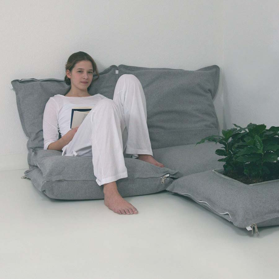 Image of: Oversized Floor Pillows Gray