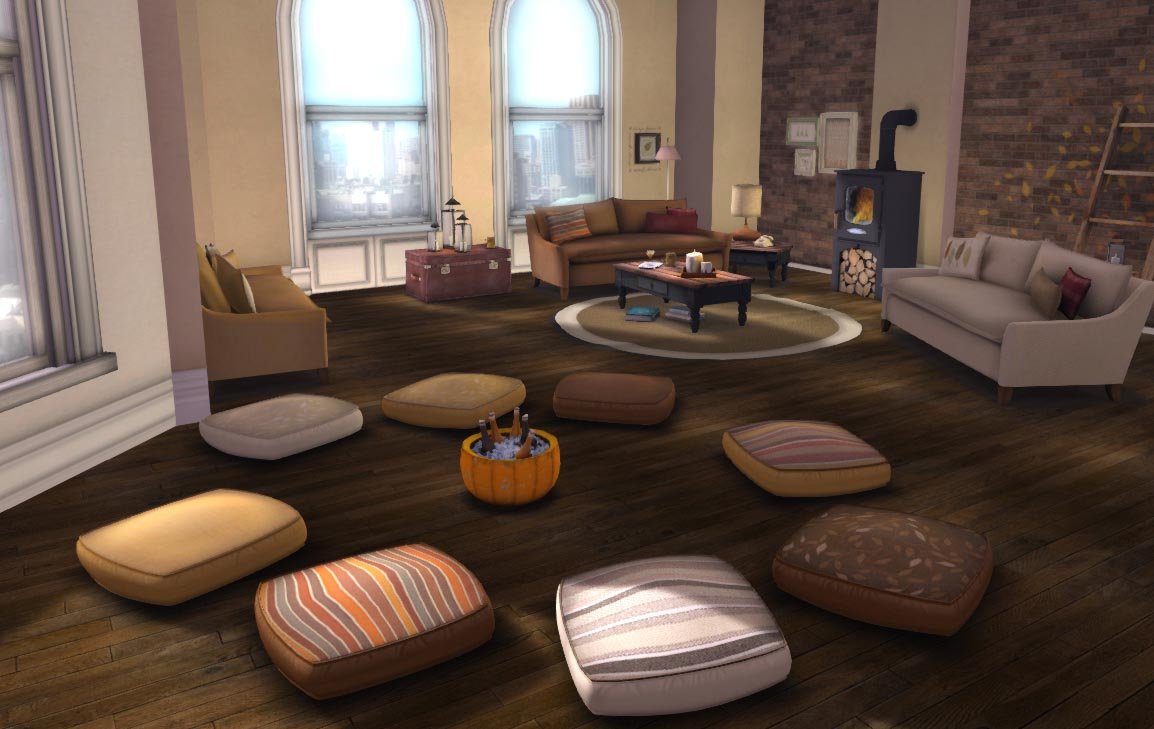 Image of: Oversized Floor Pillows Seating