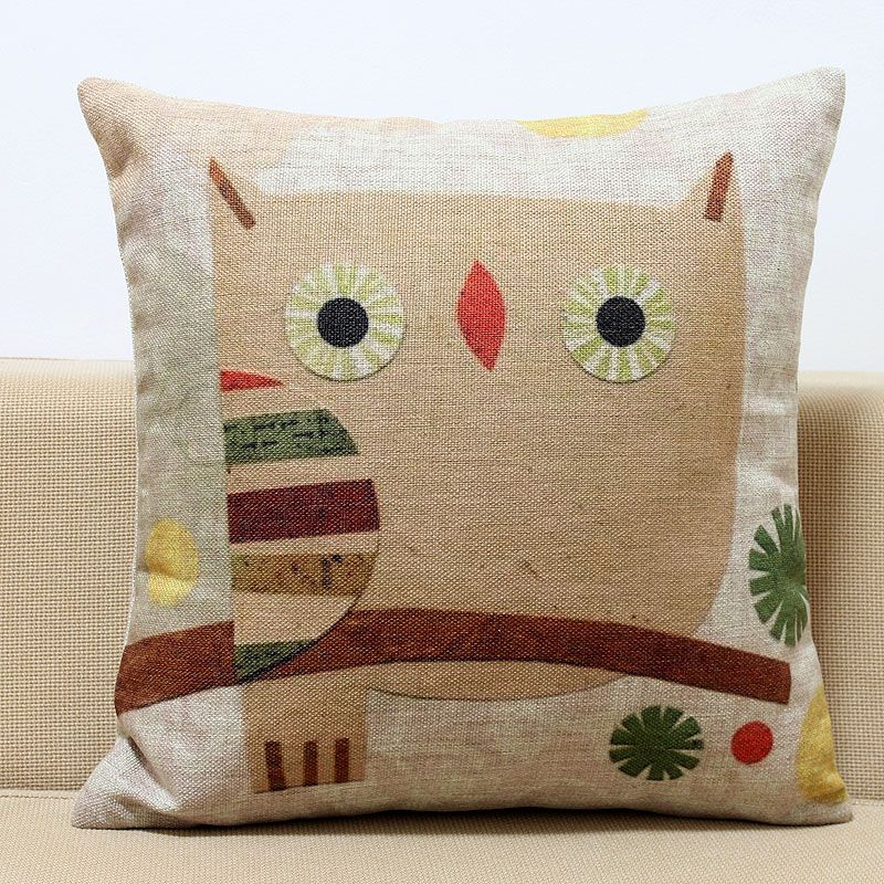 Image of: Owl Pillow Ideas