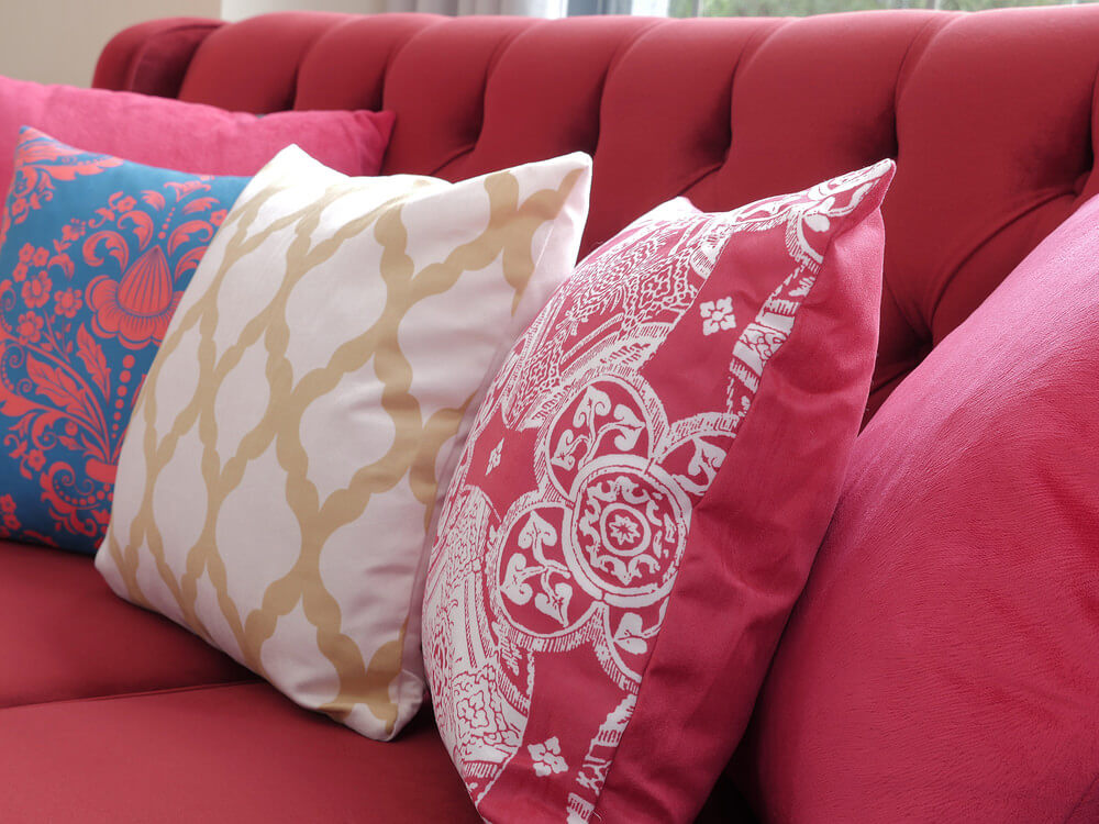 Pale Pink Throw Pillows for Sofa