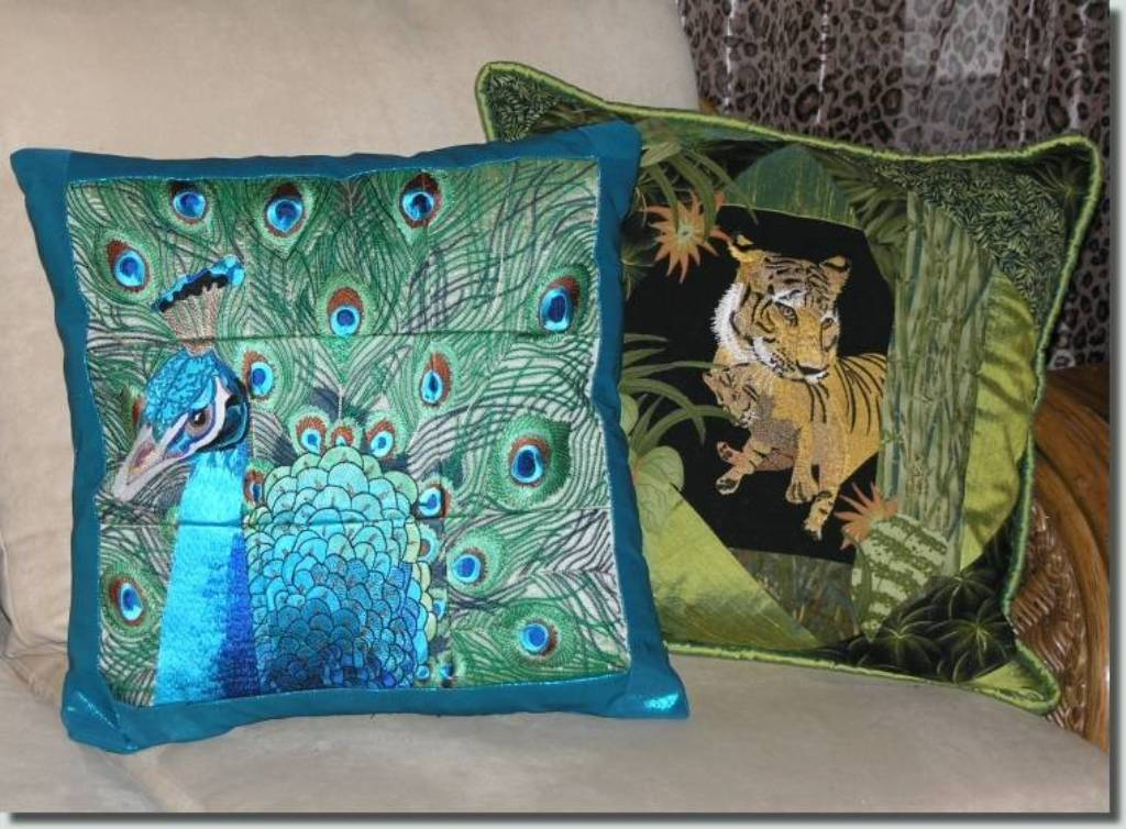 Image of: Peacock Pillow Case