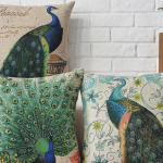 Peacock Pillow Covers