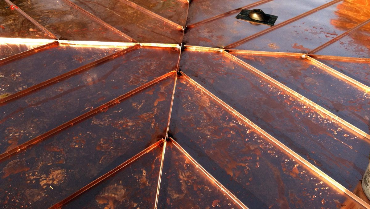 Perfect Copper Standing Seam Roof