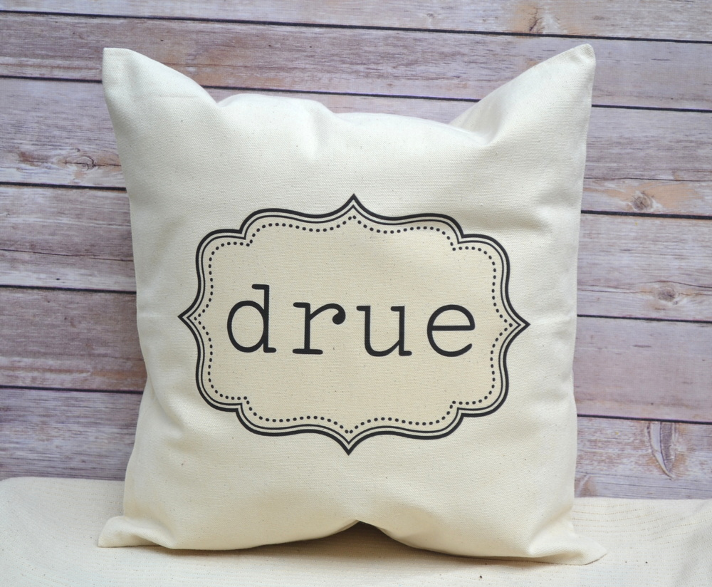 Image of: Personalized Pillow Cover