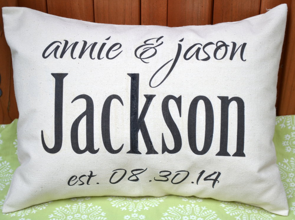 Image of: Personalized Pillow Slips