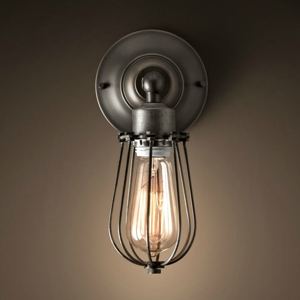 Image of: Picture Cage Sconce