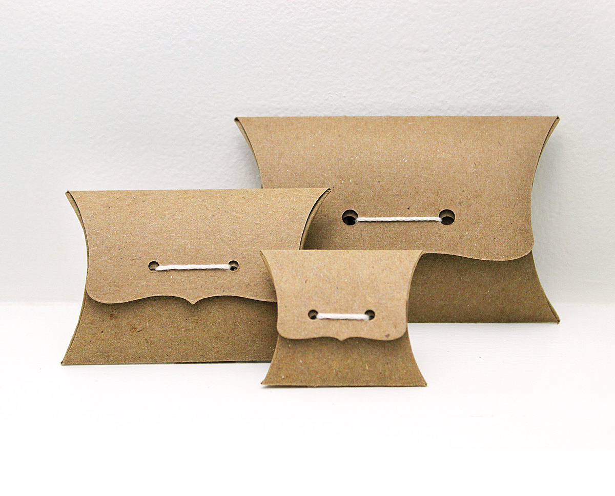 Image of: Pillow Boxes Size