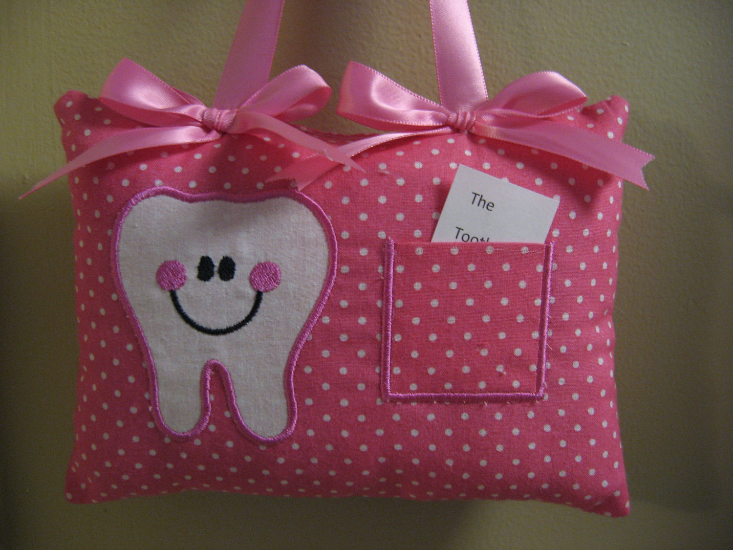 Image of: Pink Tooth Fairy Pillow