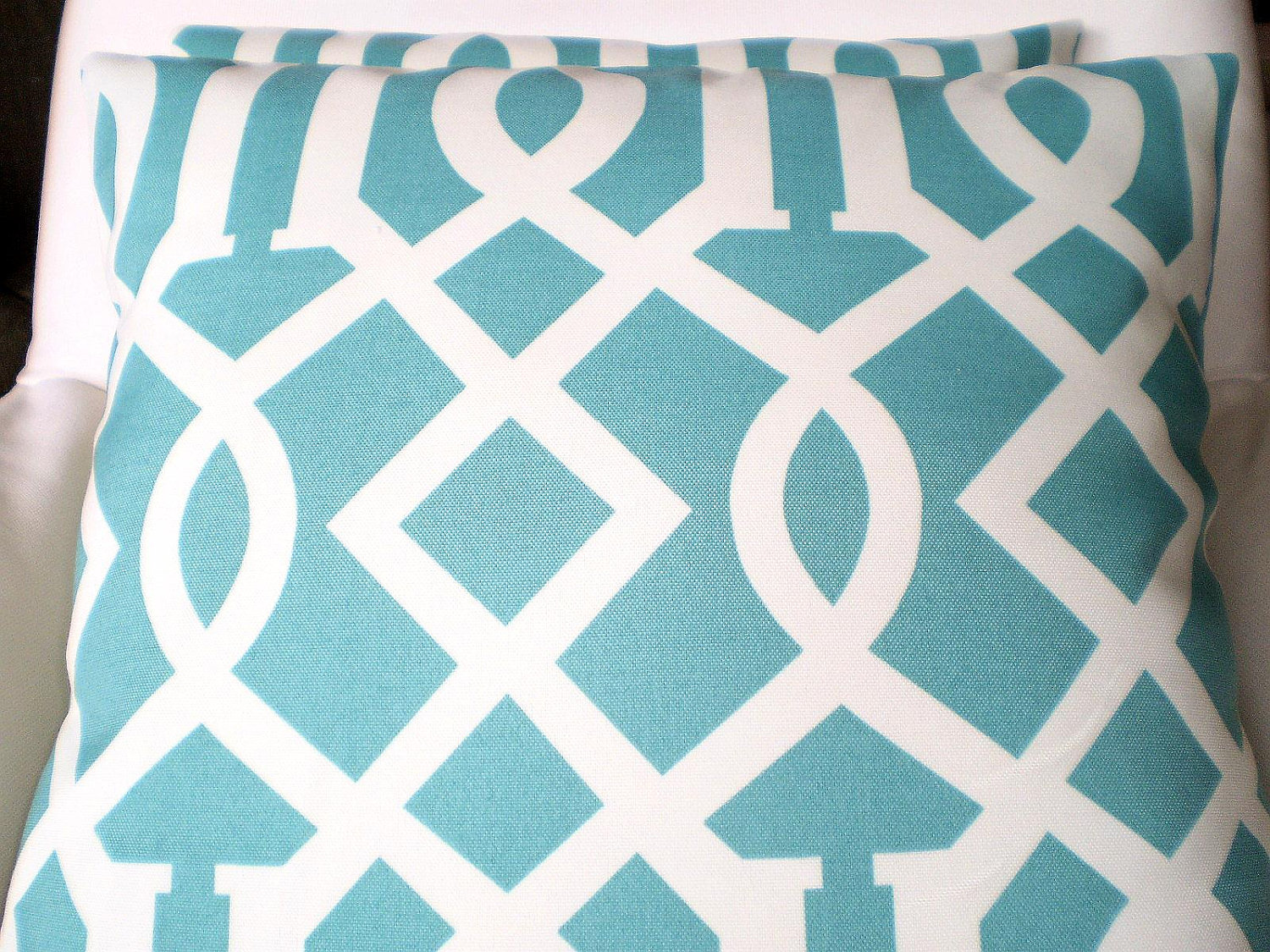 Image of: Pink and Turquoise Outdoor Pillows