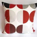 Polkadot Red And Grey Throw Pillows