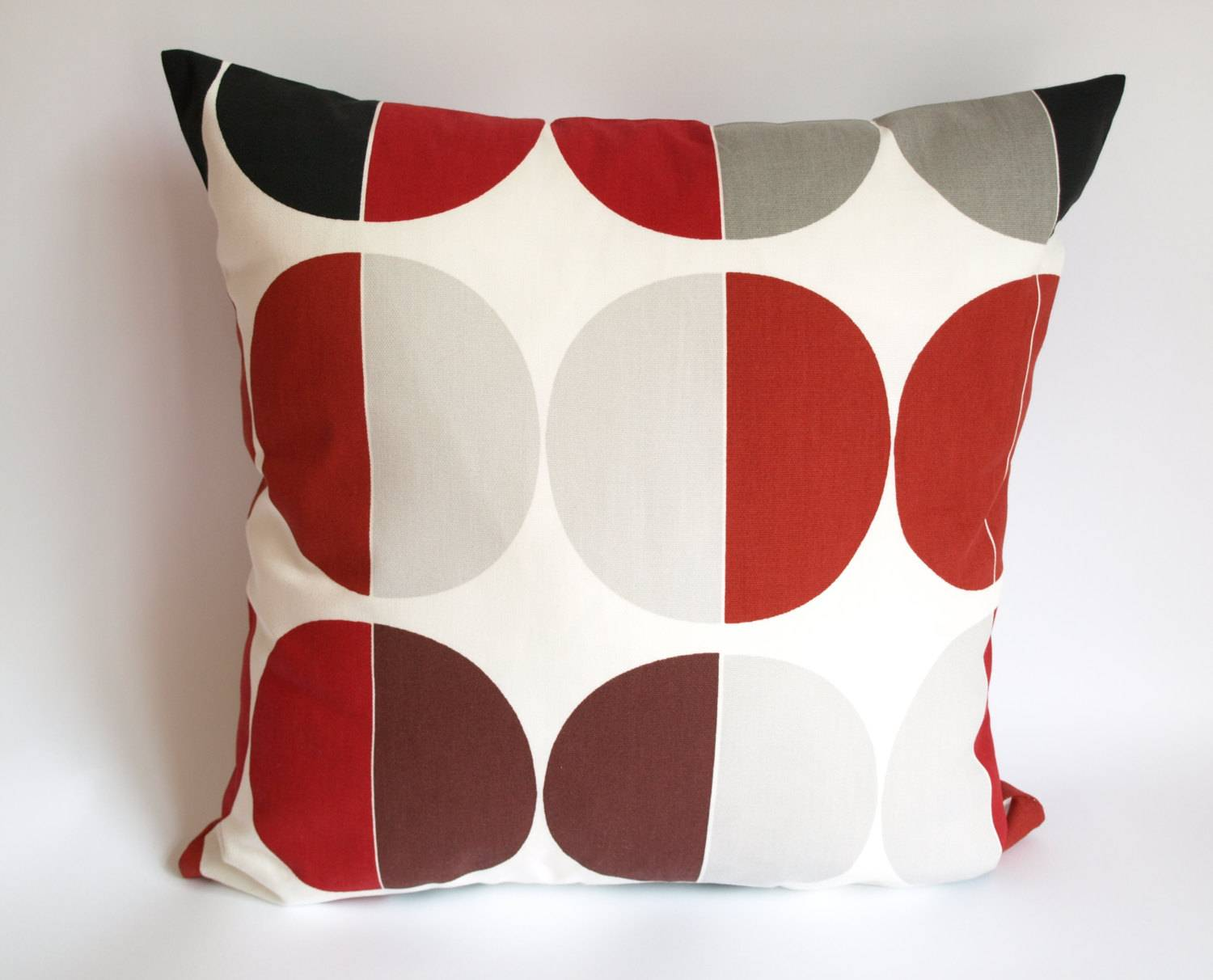 Image of: Polkadot Red And Grey Throw Pillows