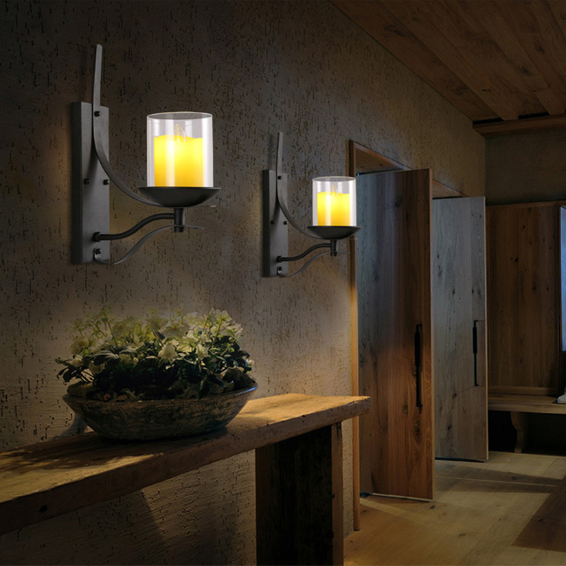 Image of: Popular Iron Candle Sconce Designs Ideas
