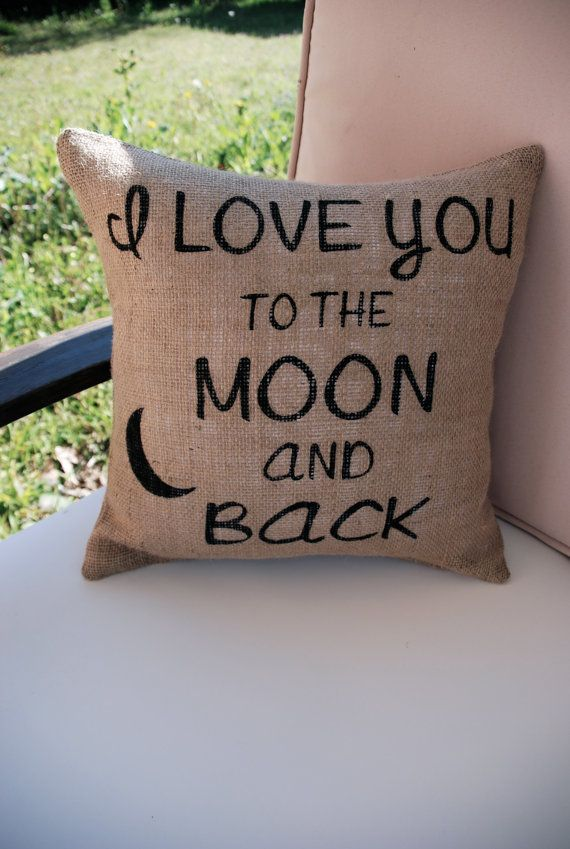 Image of: Popular To The Moon And Back Pillow