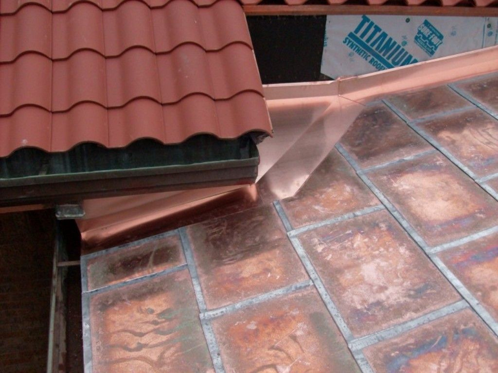 Image of: Pre Seam Copper Roof Panels