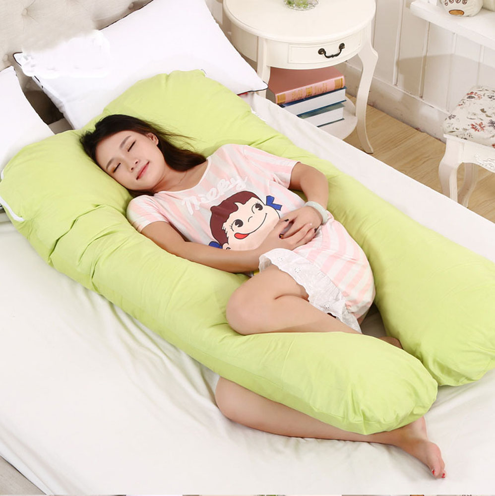 Image of: Pregnancy Body Pillow Green