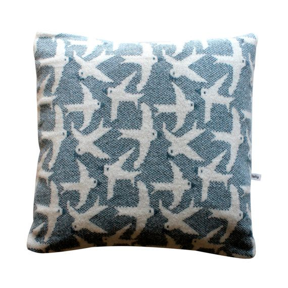 Image of: Pretzel Pillow Blue