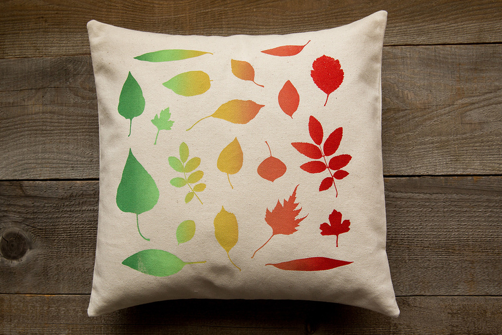 Image of: Printed Leaf Throw Pillows