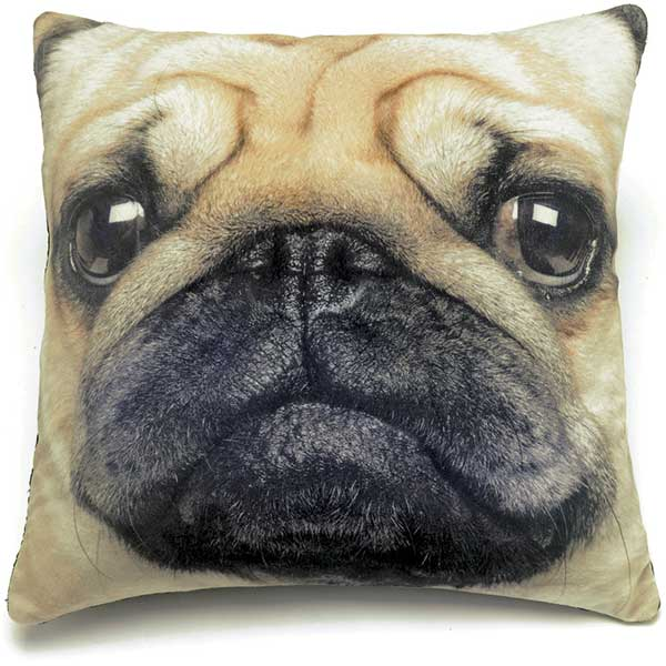 Image of: Pug Pillow Big