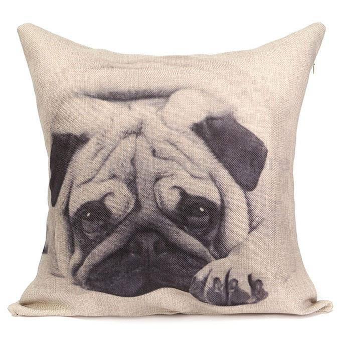 Image of: Pug Pillow Cover