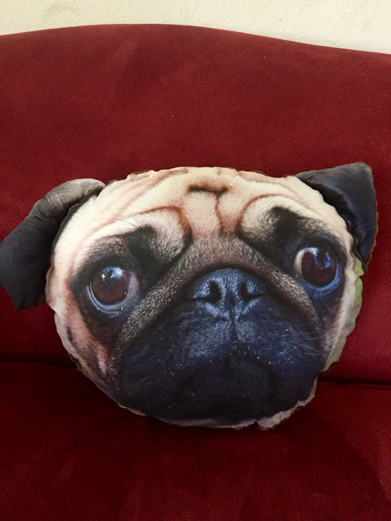 Image of: Pug Pillow Design