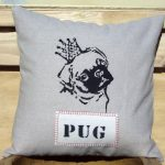Pug Pillow Grey