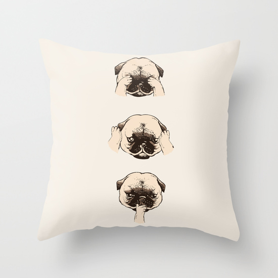 Image of: Pug Pillow Part