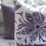 Purple Lumbar Pillow Design