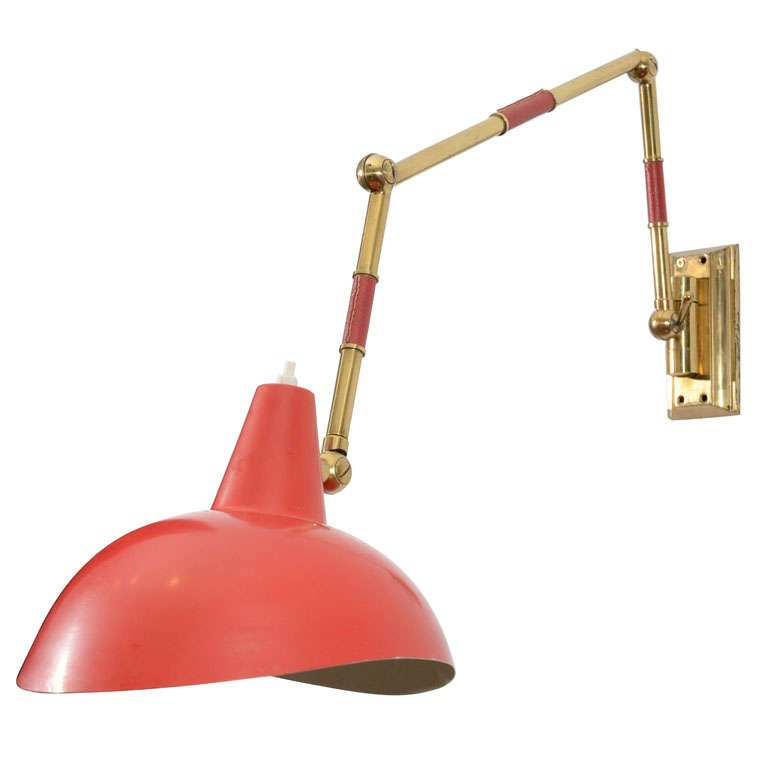 Image of: Red Adjustable Wall Sconce