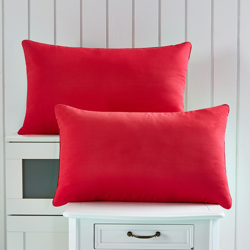 Image of: Red Throw Pillows Colors
