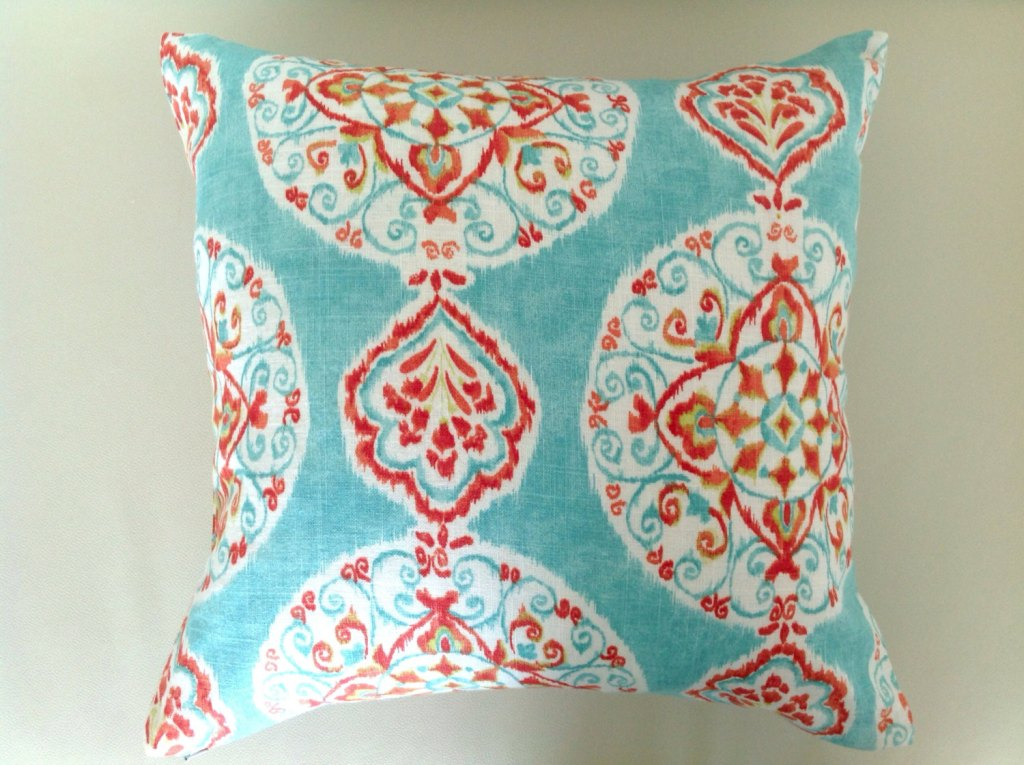 Image of: Red and Turquoise Pillows