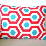 Red and Turquoise Throw Pillows