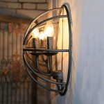 Retro Candle Wall Sconces Wrought Iron
