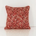 Root Red And Grey Throw Pillows