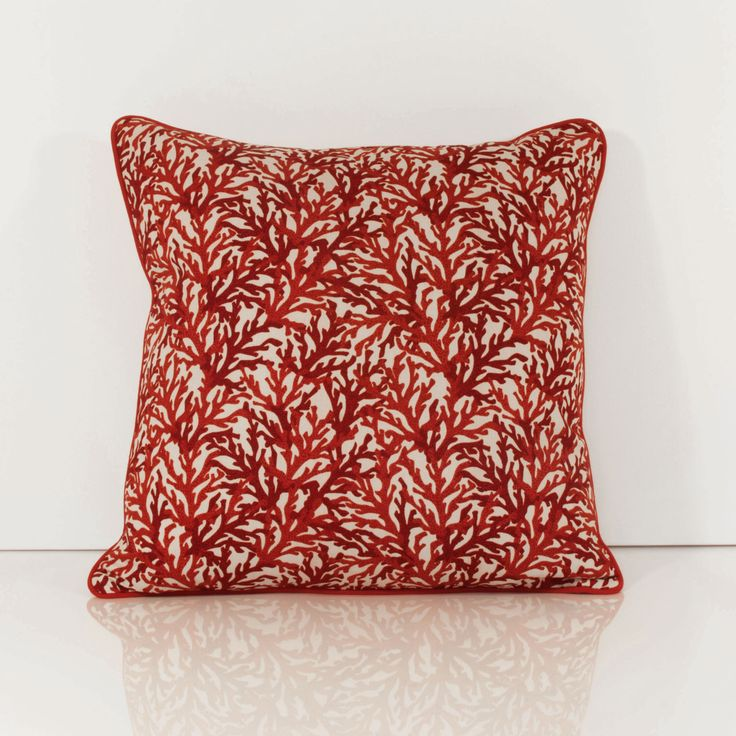 Image of: Root Red And Grey Throw Pillows