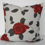 Rose Red And Grey Throw Pillows