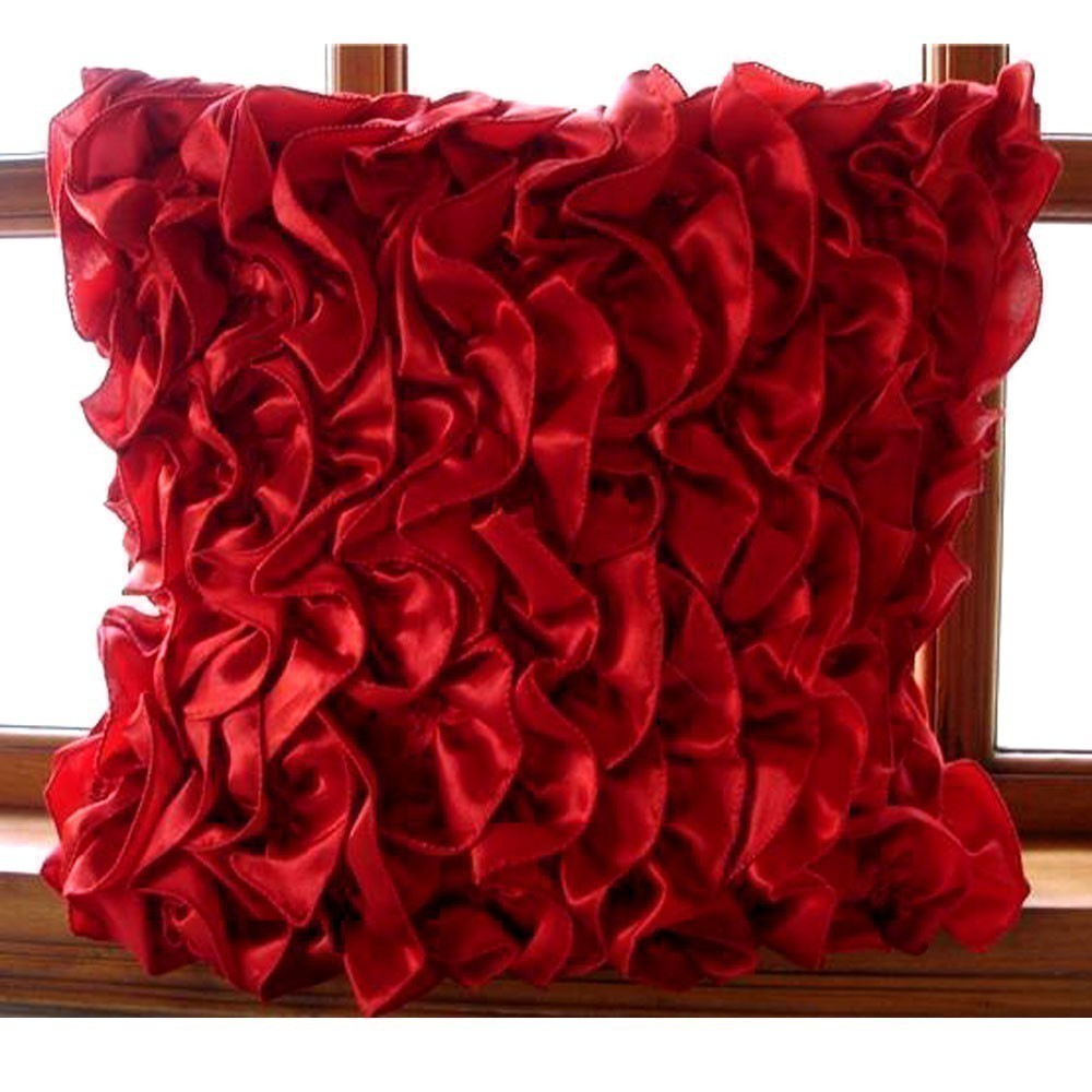 Image of: Rose Red Throw Pillows