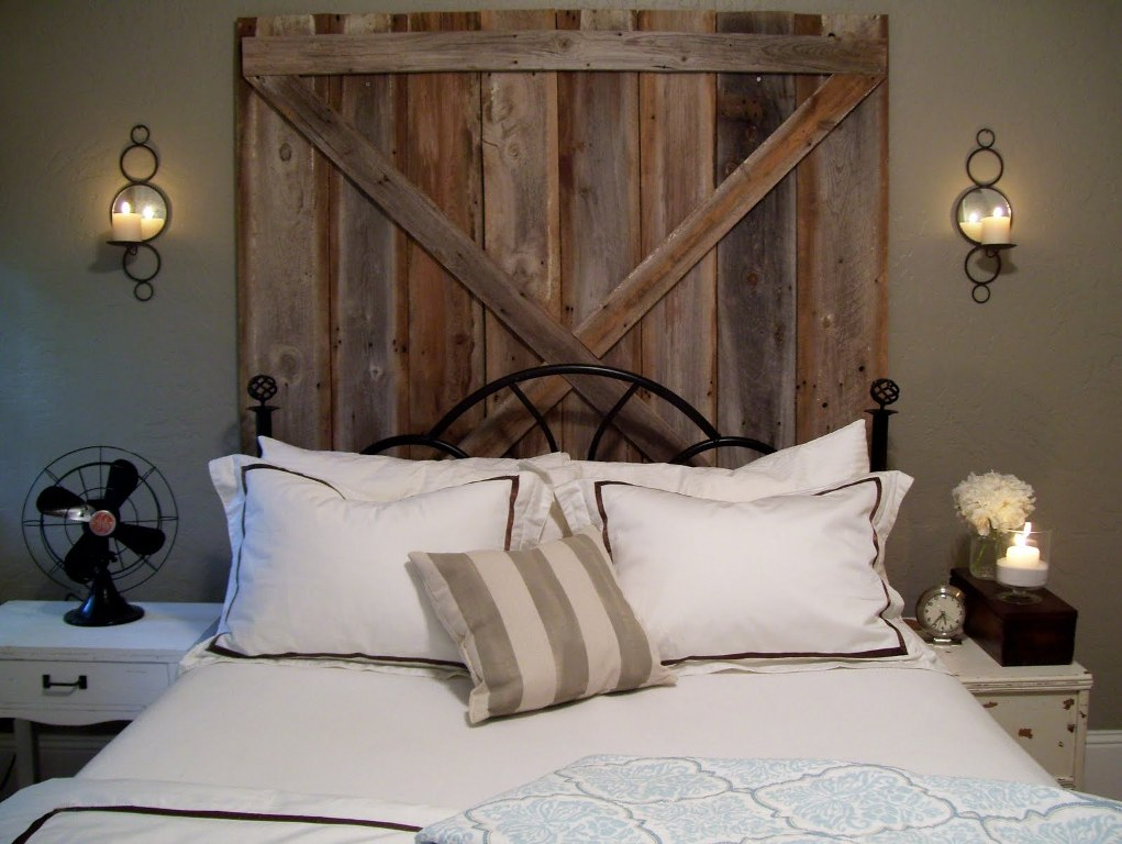 Image of: Rustic Bedside Wall Sconces
