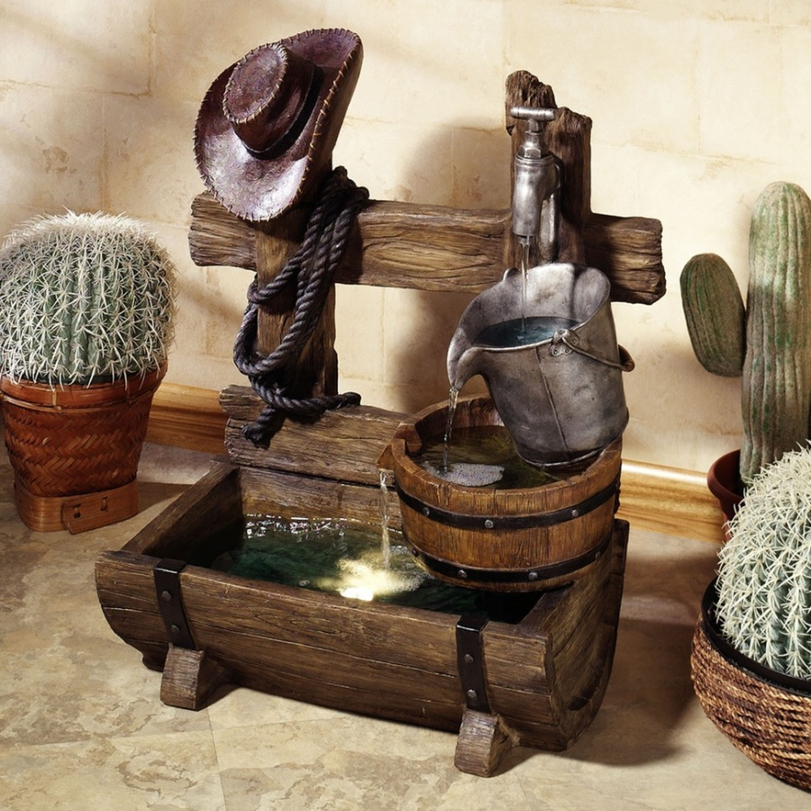 Image of: Rustic DIY Indoor Fountain