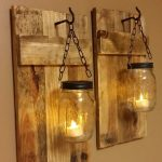 Rustic DIY Wall Sconce