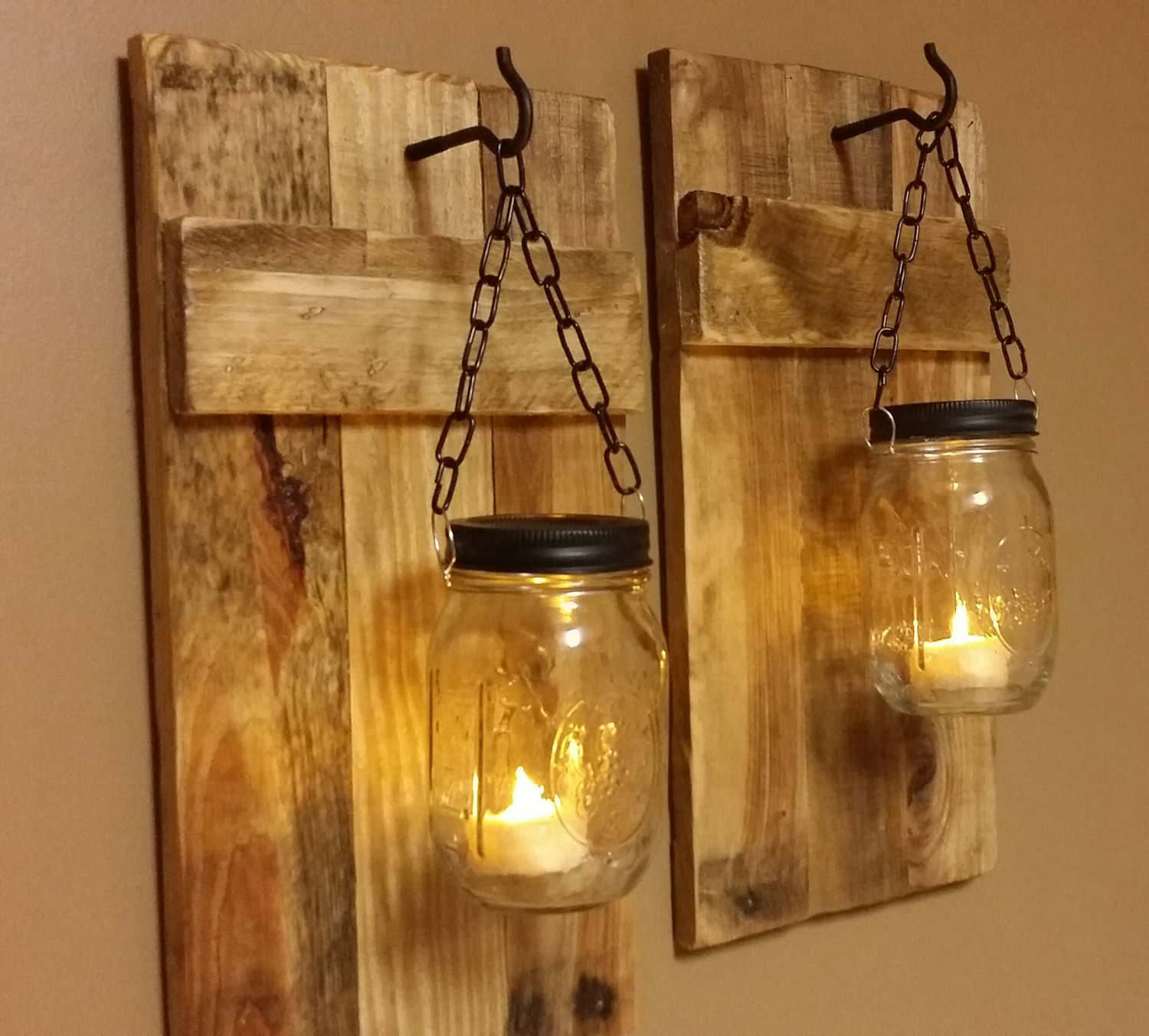 Image of: Rustic DIY Wall Sconce