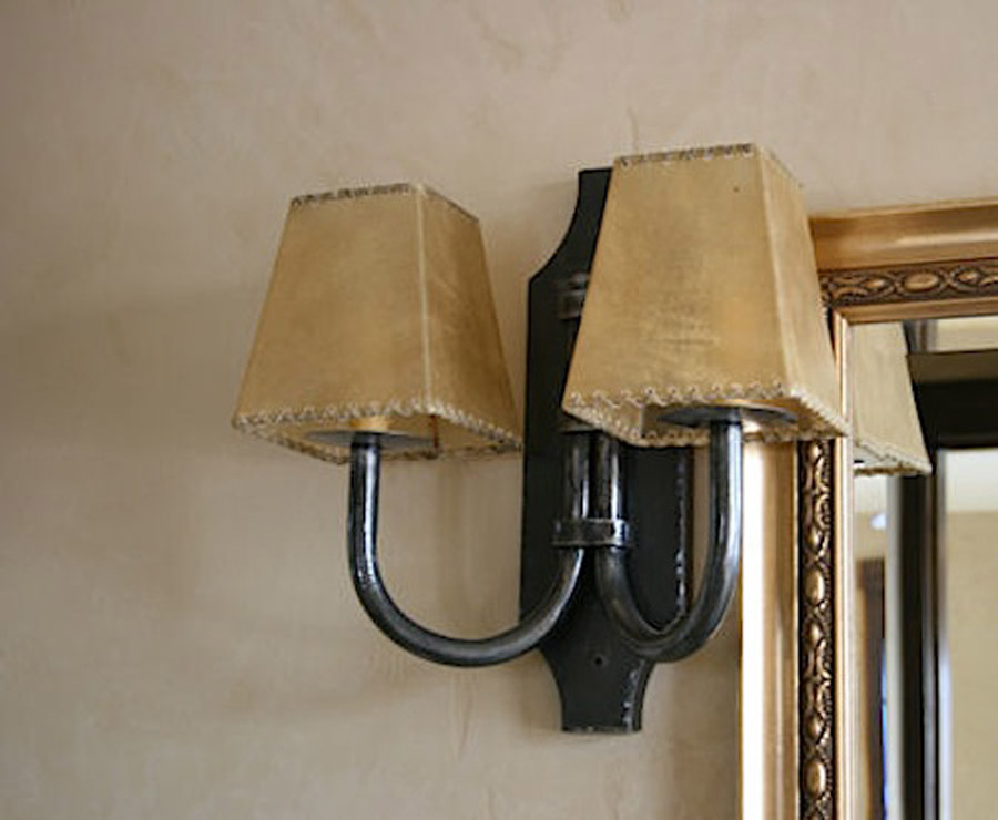 Image of: Rustic Double Wall Sconce