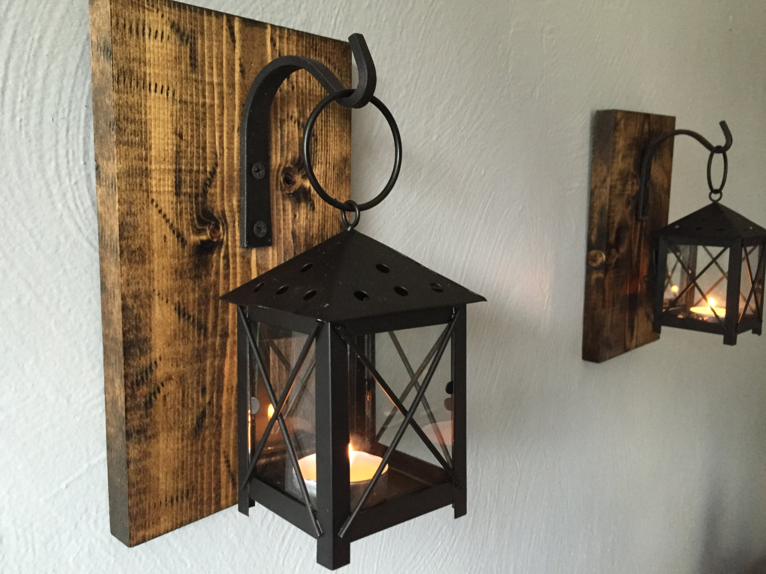Image of: Rustic Iron Candle Sconce Designs Ideas