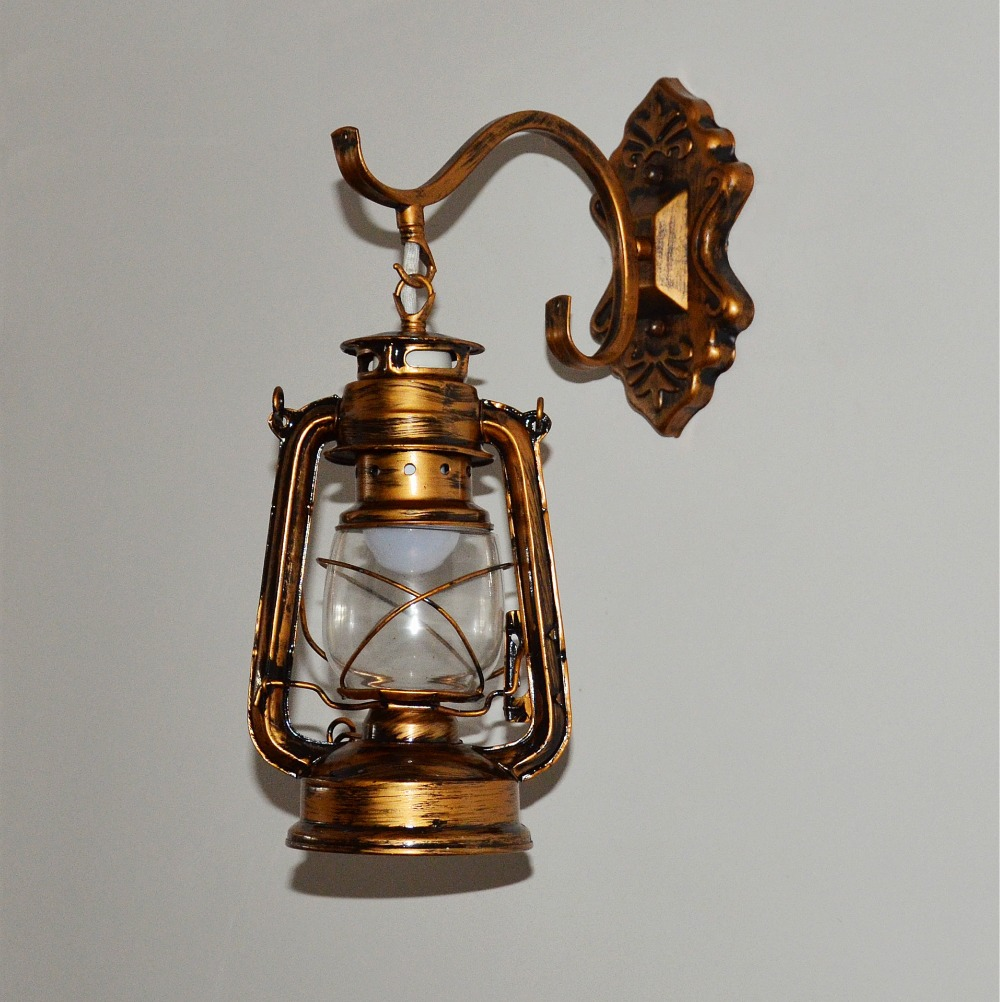 Image of: Rustic Lantern Sconce Indoor
