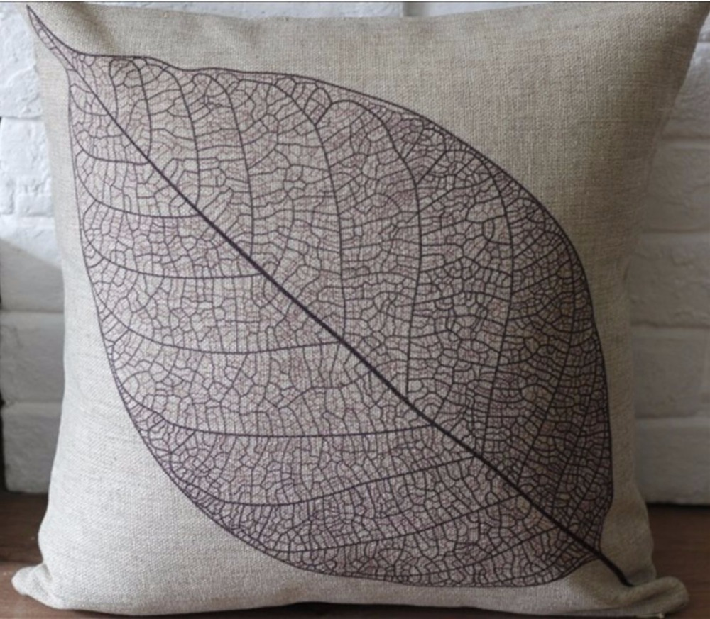 Image of: Rustic Leaf Throw Pillows