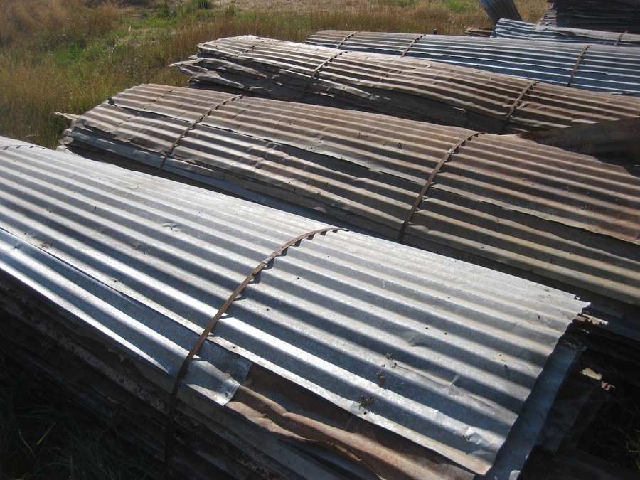 Image of: Rusty Corrugated Aluminum Roofing