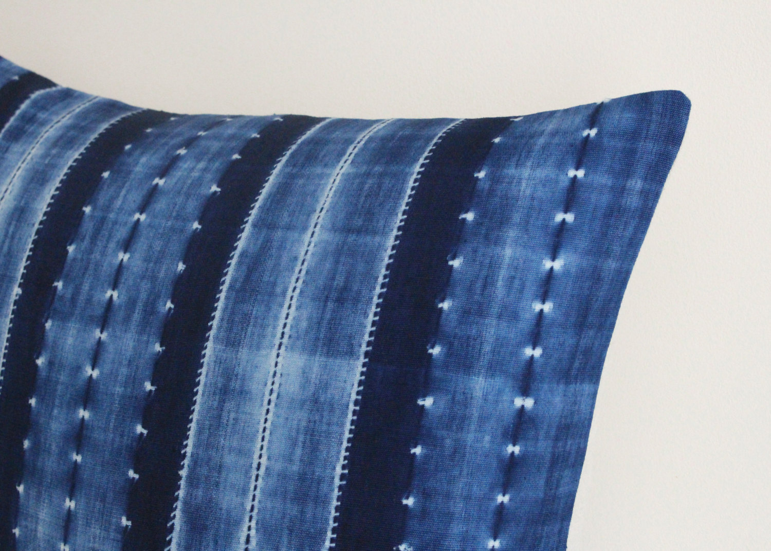Image of: Shibori Pillows Blue