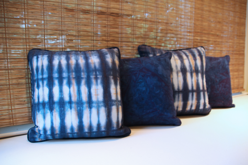 Image of: Shibori Pillows Color