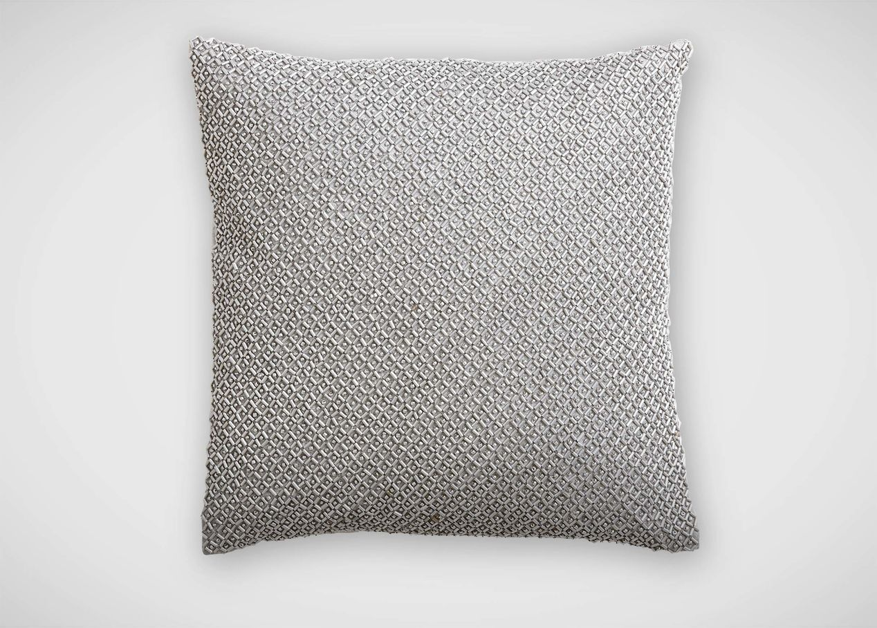 Image of: Silver Beaded Pillow Colors