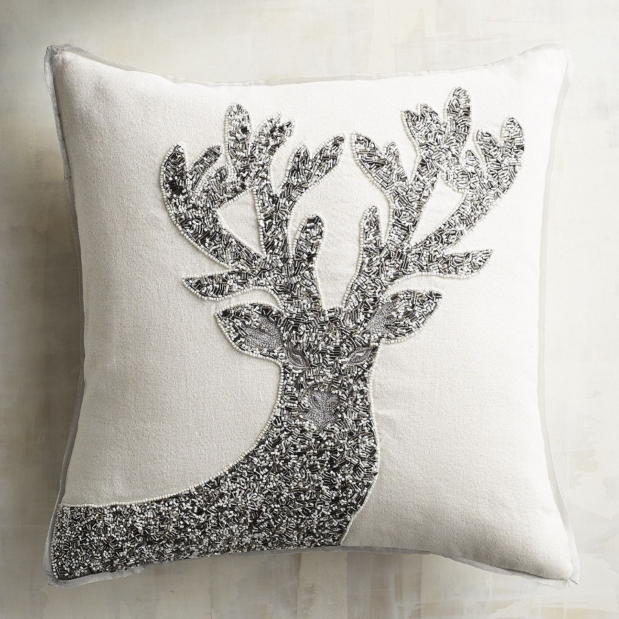 Image of: Silver Beaded Pillow Theme